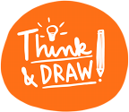 think and draw – Graphic Recording & Illustration Logo